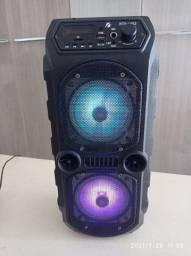 Caixa de som Bluetooth Rádio e Pendrive