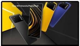 Poco M3 Amarelo/Preto/Azul 4+128Gb China