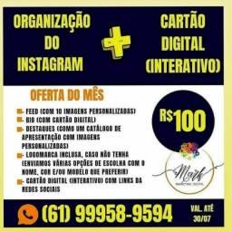 Cartão digital com divulgação oferta