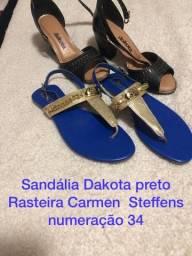 Sandália e rasteira usadas