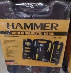 Kit Maleta de Ferramentas Hammer com 142 Peças