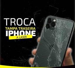 TROCA DO VIDRO TRASEIRO IPHONE 7 8 X 11 PRO MAX 12