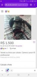 Vendo Camera canon t5 profissional 32 gigas por 1000 reais!!!