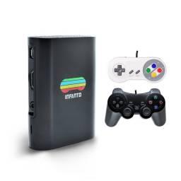 Console Infanto 3 - Video Game Retrô com 20 mil jogos antigos (2 controles) c/ NFe PR
