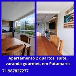 Ótimo apartamento 2 quartos, suíte, varanda gourmet, em Patamares
