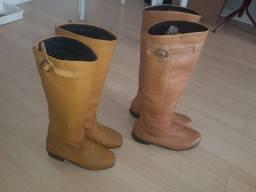 2 botas  seminovas