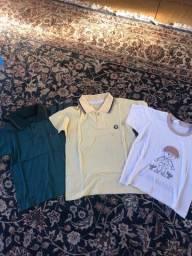 Kit 3 camisas menino
