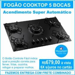 Fogão Cooktop 5 bocas Consul