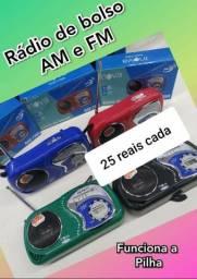 Rádio AM/FM a pilha