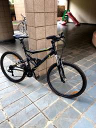 Bicicleta Caloi MTB 26 full suspension 21 marchas