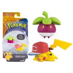 Boneco Pokémon Pikachu e Bounsweet Action Figure Tomy Original