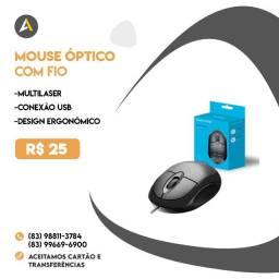 Mouse Óptico Multilaser com fio