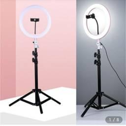 Título do anúncio: Ring Light Iluminador LED 10 Polegadas 26cm Com Tripé De 2.1 Cm