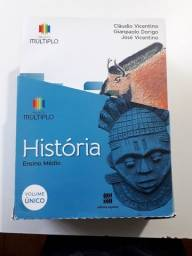 Livro de história projeto múltiplo