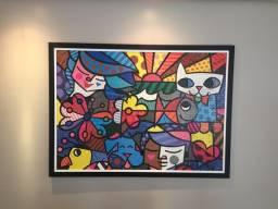 Quadro de quebra-cabeça Romero Brito 148 cm x 108 cm