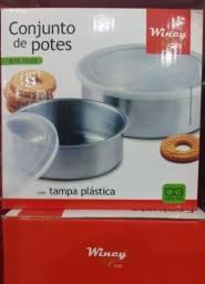 Conjunto de Potes Tigelas Inox