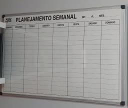 Quadro Branco 90cmLx60cmA Planejamento Semanal Alumínio Easy Office -  Usado