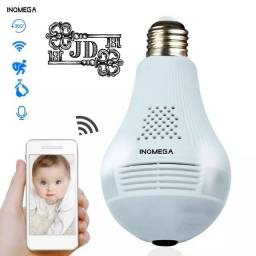 Smart lâmpada com câmera - 1080p, 360 graus e áudio bidirecional