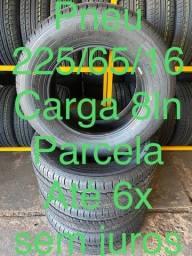 Pneu carga 225/65/16 R$ 799