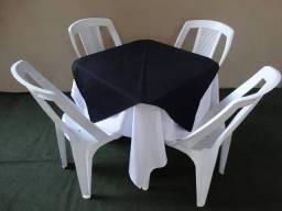 Mesas cadeiras e toalhas (locação)