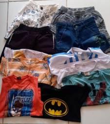 Lote de roupa infantil masculina 6 anos