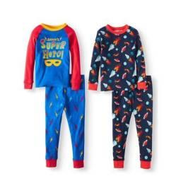 Kit Pijama Wonder Nation - Kit 4 unidades - 3X SEM JUROS