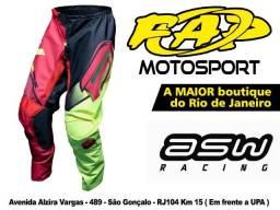 Calça Motocross Asw Image Discover Vermelha Fluor