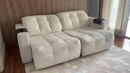 Sofá Retratil Novo Branco