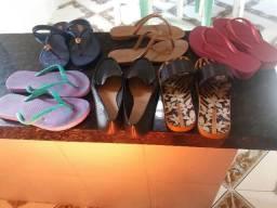 Kit 6 sandalias femininas