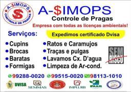 Documentos Dedetização/Laudos Téc. de Limp. Caixas D`Água e de Ar Cond