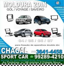 Título do anúncio: Moldura 2din para som automotivo / serviço técnico de instalação