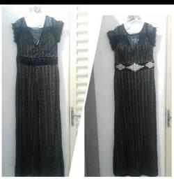 Vestido de Festa Preto com Forro
