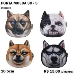 Porta Moeda 3D Gatos e Cachorros