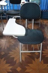 Cadeira Escolar / Melanino / em Tecido / MDF Azul (Ver Observações)