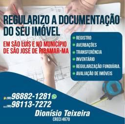Regularizo seu imóvel, são luís e no município de são José de Ribamar