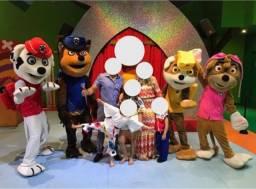 Personagem Mascote Patrulha Canina Masrhall, Chase, Skye, Rubble