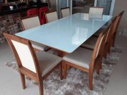 Mesa de jantar retangular maior para 8 pessoas ou mais