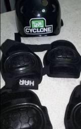 Kit de proteção ciclone + skate