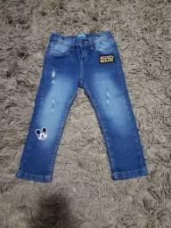 Calças Jeans Infantil 02 e 03 anos