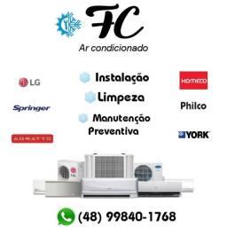 Instalação  manutenção e limpeza de Ar condicionado.