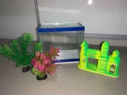 aquário pequeno + acessórios
