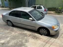 Honda Civic LX 2002 Automático / Blindado