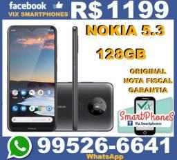 Nokia 5.3 excelente custo benefício 128GB Android_10 Bateria_4000 * 6742lqkum+*+*