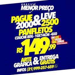 Pague 2000 e Leve 2500 Panfletos + Arte e Entrega Grátis