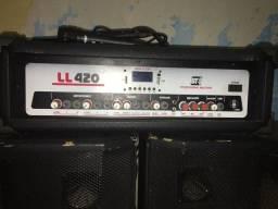 Amplificador + Caixas de Som LL420