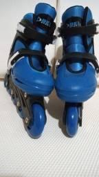Patins Roller In-line (Azul) (Ajustável do 33 ao 36) BelSports