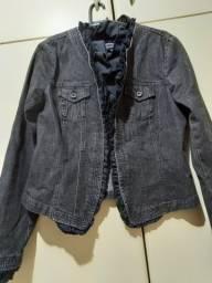 Jaqueta Jeans preta marca INC, tamanho M