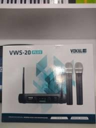 Microfone sem fio Vokal VWS 20 Plus (Par)