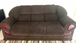 Vendo sofá 2 e 3 lugares usado chenile