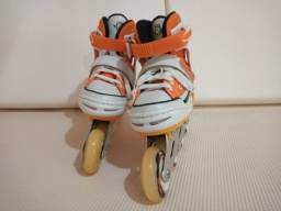 Patins Roller  - All Style Street Rollers (Laranja) (Ajustável do  33 ao 33) BelSports